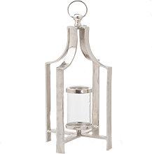 Basic Tea Light Lantern (One Size) (Silver) - Ohlson