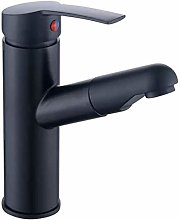 Basin Faucet Black Pull Basin Wash Head Hot and