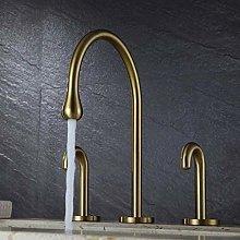 Basin Faucet Brushed Gold Basin Faucet Bathroom