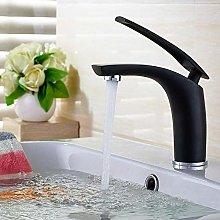 Basin Faucet Modern Black and Gold Bathroom Sink