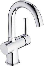 Basin Mixer Tap CORNWALL Chrome - Silver - Schütte