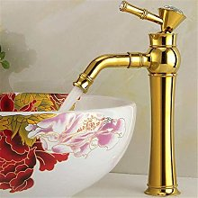 Basin Water Taps Electroplate Gold/Silver Deck