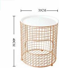 Basket Coffee Table Storage Basket Modern Gold