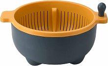 Basket Colander Double-layer rotating drain basket