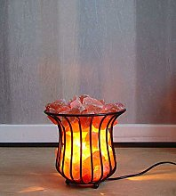 Basket Himalayan Salt Lamp with Salt Chunks