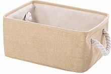 Basket Laundry Baskets Cotton Linen Foldable Dirty
