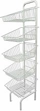 Basket Stand 3 & 5 Tier White Shop Display for