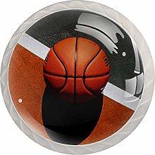 Basketball Ball Basketball White Crystal Drawer