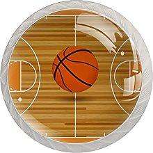 Basketball Field Orange Kitchen Cabinet Knobs