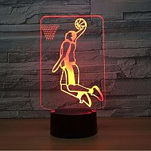 Basketball Raptors 3D LED Night Light for Club
