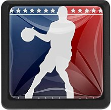 Basketball Silhouette 3 Pack Cabinet Drawer Knob