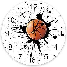 Basketball Sport 3D Wall Clock Modern Design