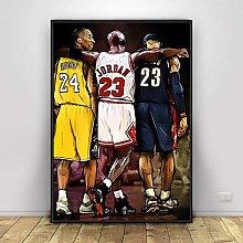 Basketball Star Canvas Painting Scandinavian Wall