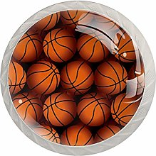 Basketball Texture Crystal Drawer Cabinet Knobs