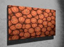 Basketballs 3D Photo Canvas Print (44574856) 3D