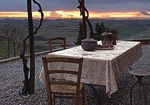 Bassetti Tablecloth, Cotton, Beige, 170 x 170 x 1
