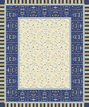 Bassetti Tablecloth, Cotton Blue, 140 x 170 x 1 cm
