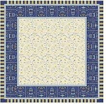 Bassetti Tablecloth, Cotton, Blue, 170 x 170 x 1 cm