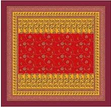 Bassetti Tablecloth, Cotton, red, 110X110