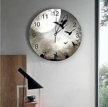 Bat Moon Cross PVC Wall Clock Modern Design Home