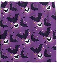 Bat Star Shower Curtain Anti-Mould Waterproof