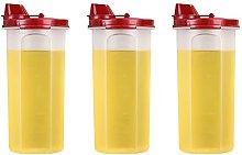 Batchelo 3 Pcs Olive Oil Dispenser Oil Pourer with