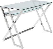 Bateman Desk Canora Grey Colour: Silver