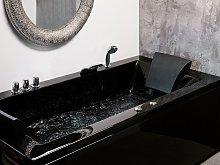Bath Black Acrylic 183 x 90 cm Left Hand Massage
