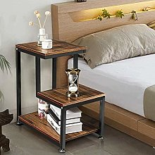 Bath chair 3-tier Nightstand With Storage Shelf