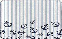 Bath Mat Bathroom Rugs,Nautical Themed With Blue