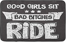 Bath Mat Bitch Motorcycle Biker Bike American Bad