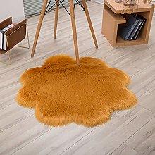 Bath Mat Faux Wool Plum Blossom Carpet Plush Sofa