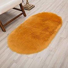 Bath Mat Oval Plush Living Room Carpet Bedroom