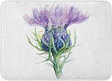 Bath Mat Scotland Purple Scottish Milk Thistle