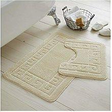 Bath mat Set 2 pc Non Slip Rubber Pedestal mat