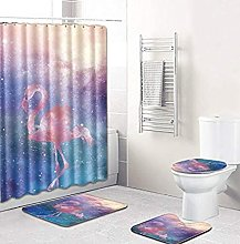 Bath Mat Set 4 Piece,4Pcs Bath Mat Set Toilet