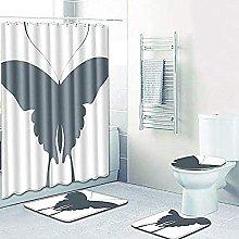 Bath Mat Set 4 Piece,Bath Mat Toilet Seat Cover