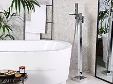 Bath Mixer Tap Silver Chrome Freestanding 118 cm