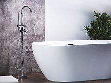 Bath Mixer Tap Silver Chrome Freestanding Modern