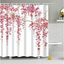 Bath Shower Curtain, Polyester Fabric Bathroom