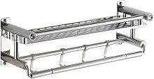 Bath Towel Rack with Guardrail Double Layered