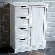 Bath Vida Bathroom Cupboard 4 Drawer 1 Door Floor