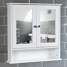 Bath Vida Double Door Bathroom Cabinet, Wood,