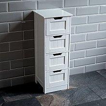 Bath Vida Priano Bathroom 4 Drawer Floor Standing