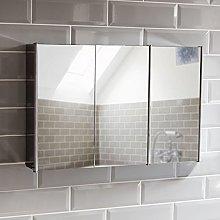 Bath Vida Tiano Bathroom Cabinet Triple Mirror