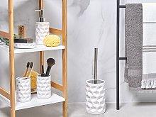 Bathroom Accessories Set White Ceramic Glam Soap
