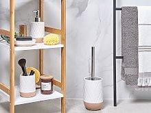 Bathroom Accessories Set White Ceramic Retro Soap
