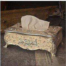 Bathroom Accessoriessilver White Metal Tissue Box