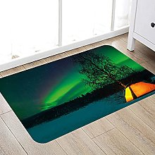 Bathroom anti-slip mat Northern Lights,Camping