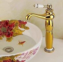 Bathroom Basin Faucet Brass Gold Finish Mixer Tap